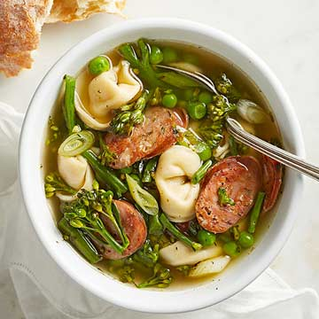 Spring Tortellini Soup