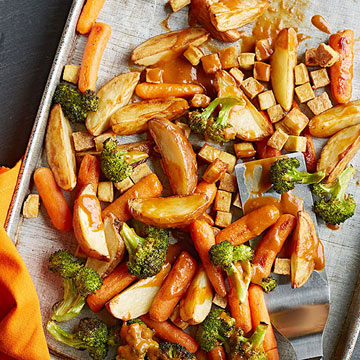 Asian Roasted Vegetables with Tofu