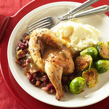 Cornish Game Hens with Cider-Sage Sauce