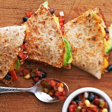 Black Bean and Corn Quesadillas