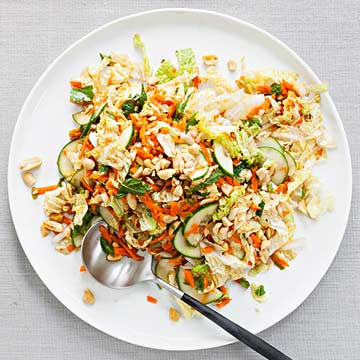Sweet and Spicy Cabbage and Peanut Slaw