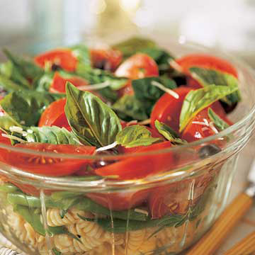 Italian Basil, Tomato, and Pasta Salad