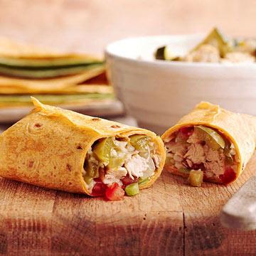 Chicken and Veggie Burritos