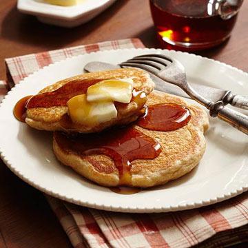 Whole-Grain Buttermilk Pancakes