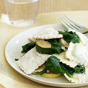 Ravioli with Spinach & Squash