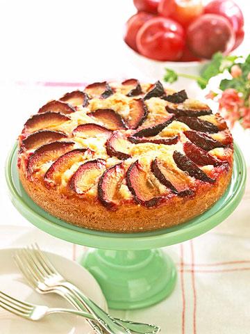 Almond-Plum Coffee Cake