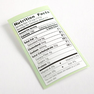 Read Nutrition Labels