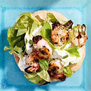 Grilled Shrimp Pitas