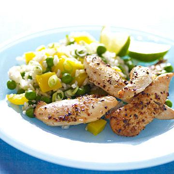 Caribbean Chicken Strips & Rice