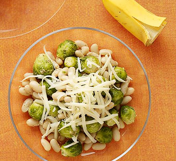 Brussels Sprouts with White Beans