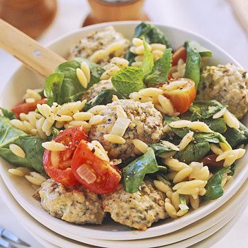 Greek Meatballs and Orzo Pilaf