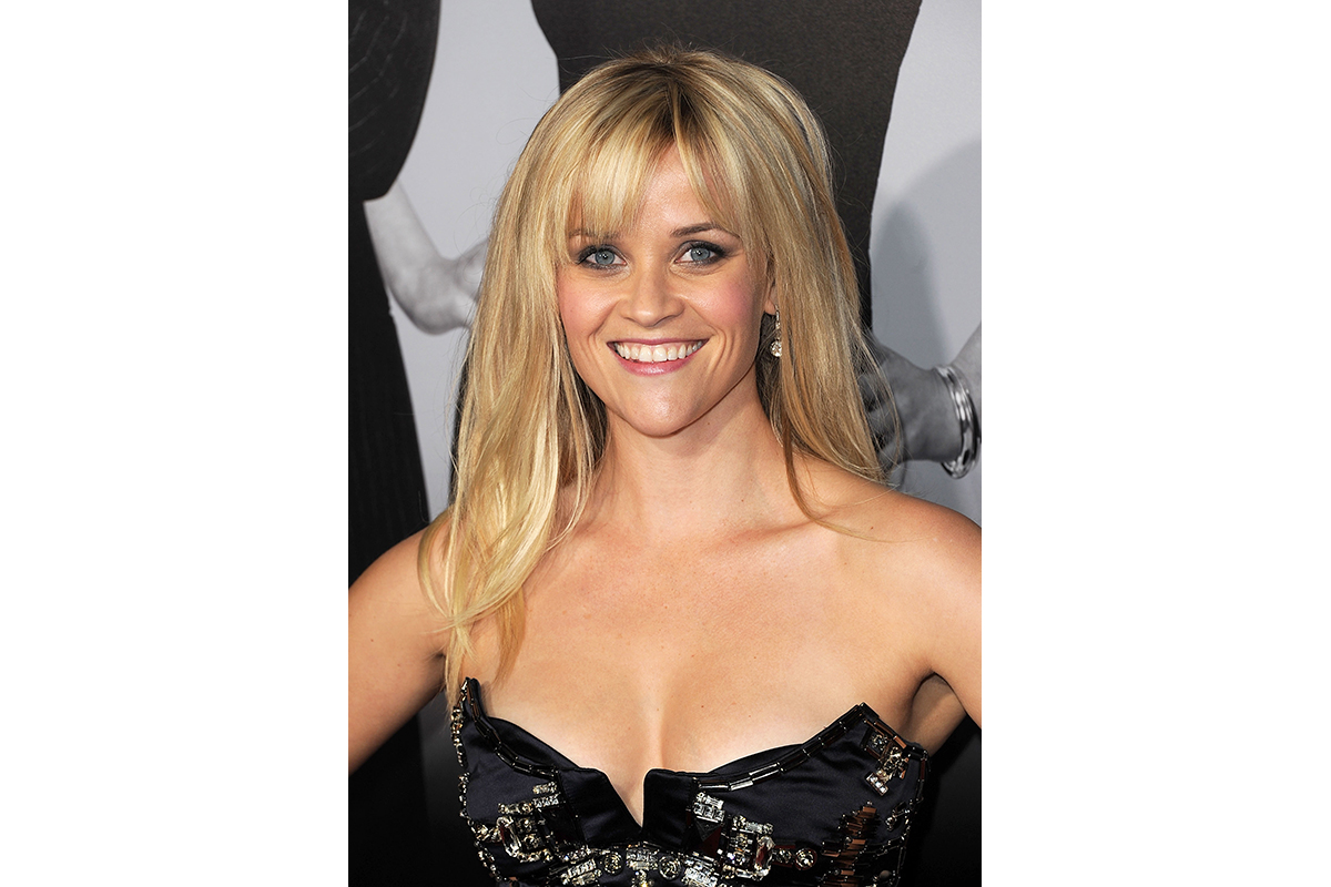 reese witherspoon with side-swept bangs
