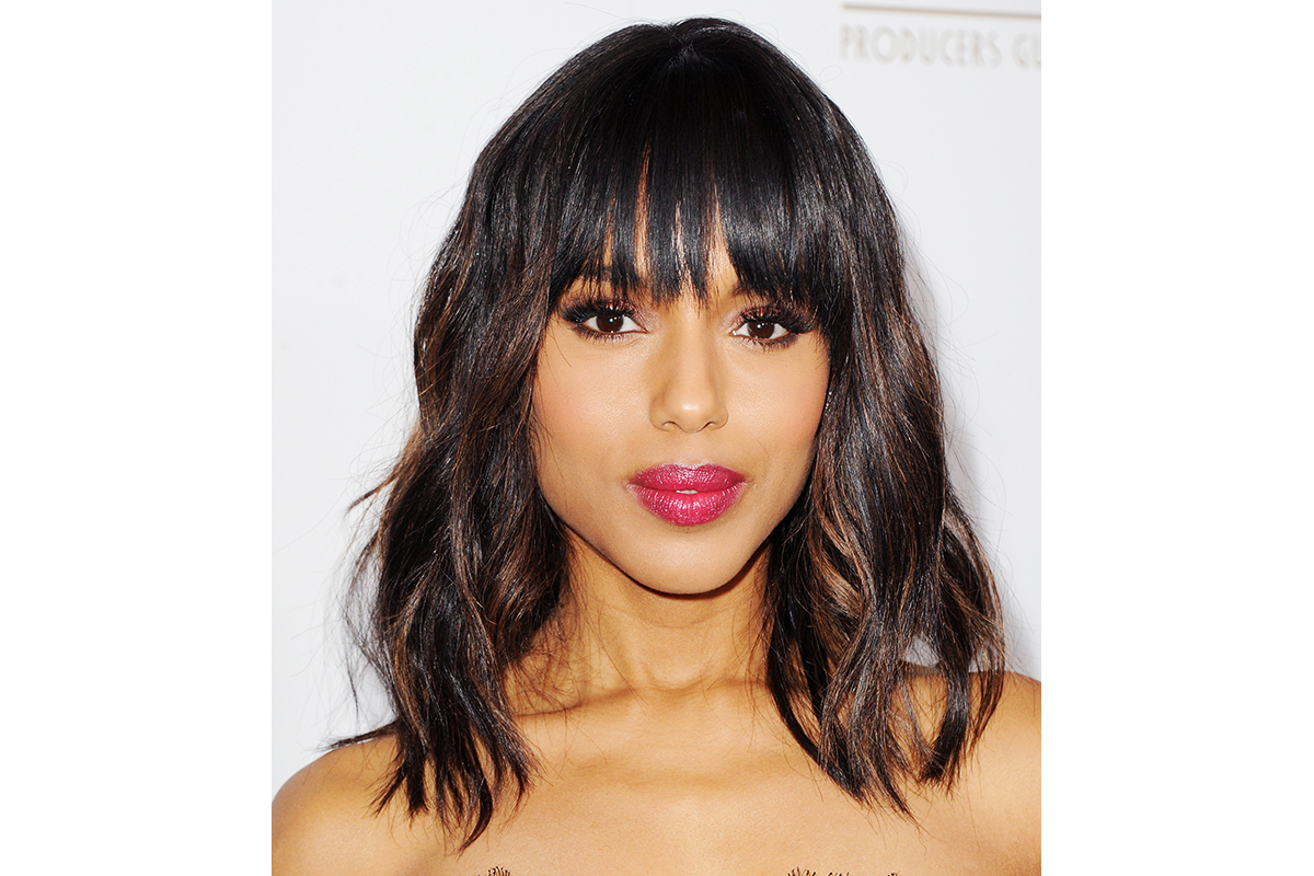 kerry washington with brow-skimming bangs