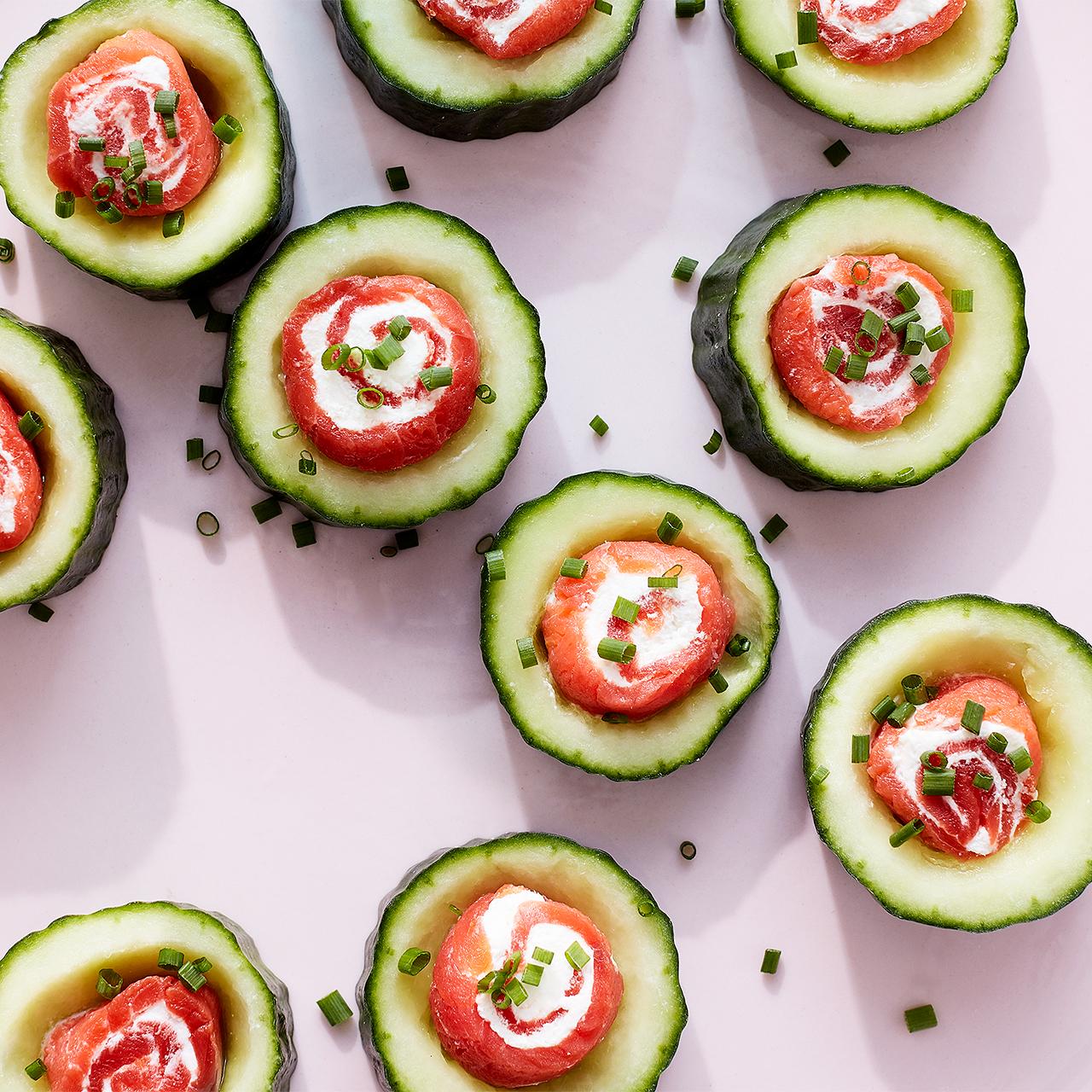 Salmon Cucumber Bites