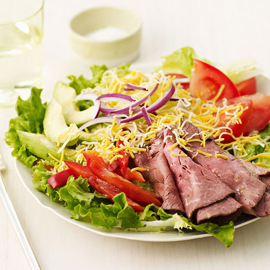 Roast Beef Fajita Salad