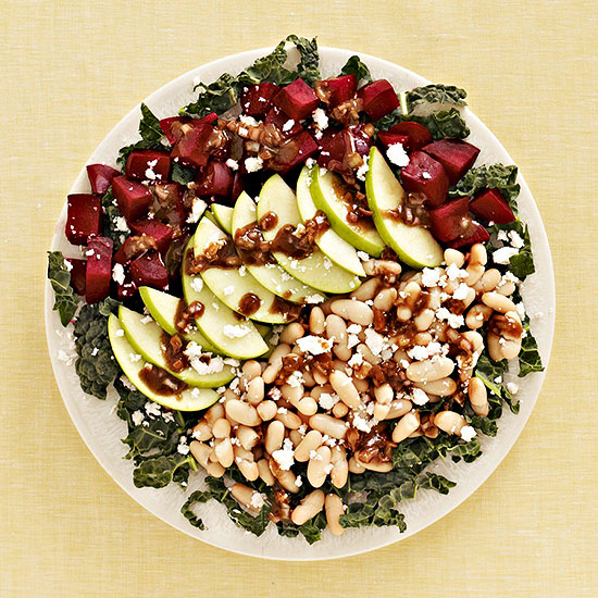 Roasted Beet, Apple and White Bean Salad