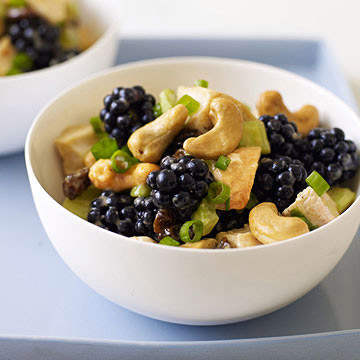 Curried Chicken Salad with Blackberries