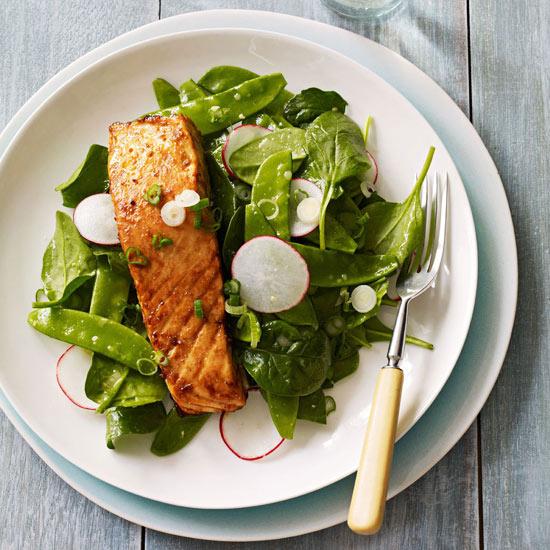 Miso-Glazed Salmon Salad