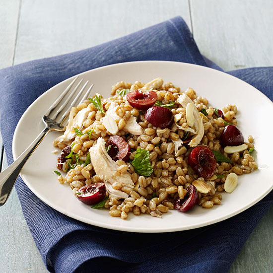 Farro with Chicken and Cherries