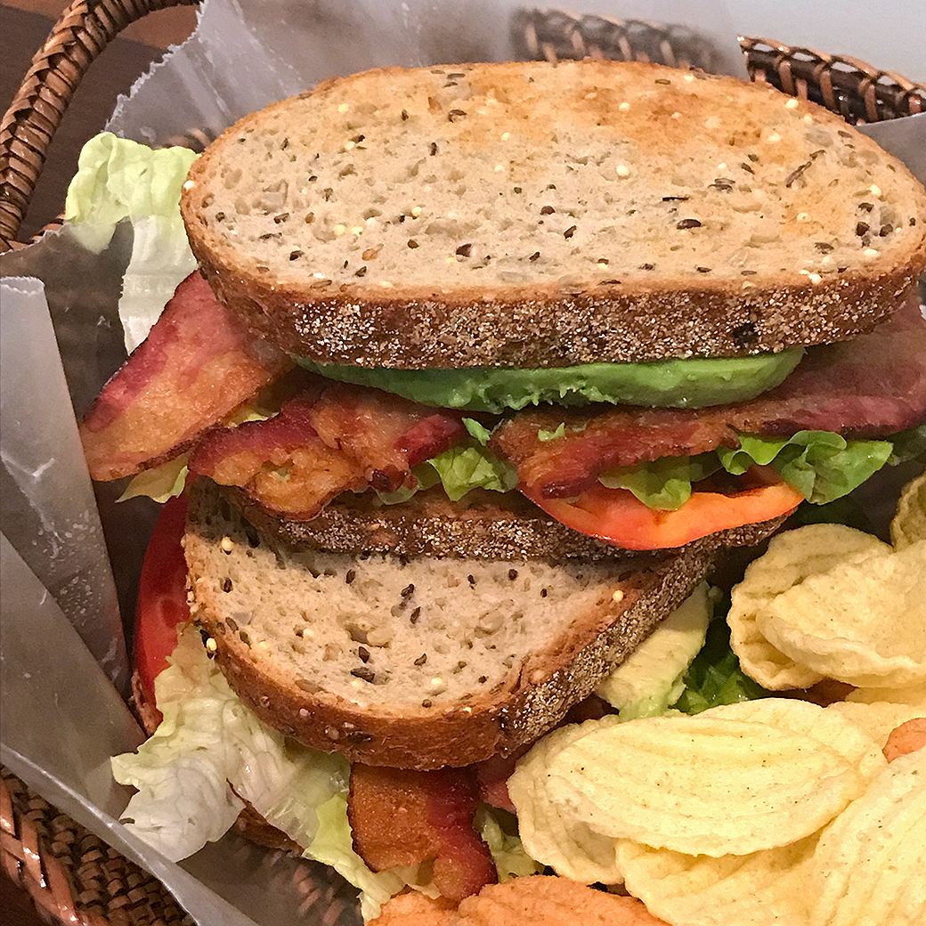blat sandwiches and chips