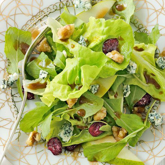 Pear Salad with Sugared Walnut
