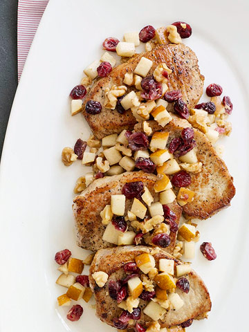 Pork with Pear Compote