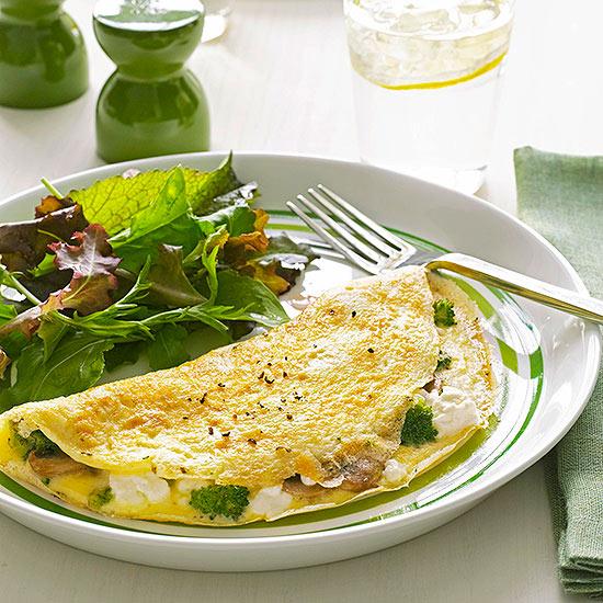 Mushroom & Broccoli Omelet