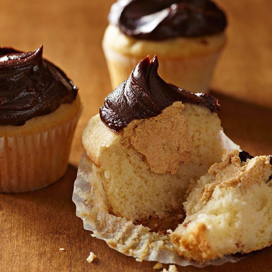 Pumpkin Mousse-Filled Cupcakes