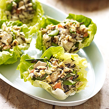 Wild Rice with Chicken and Sugar Snap Peas