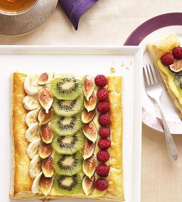 Banana Cream Fruit Tart