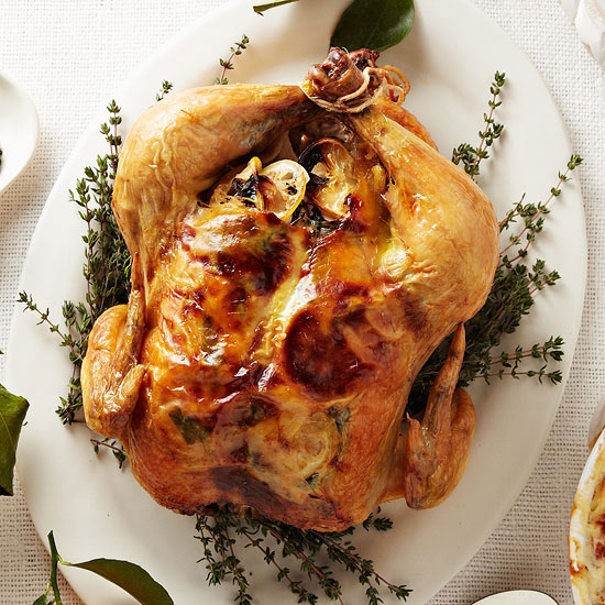 Roast Chicken with Thyme-Scented Gravy