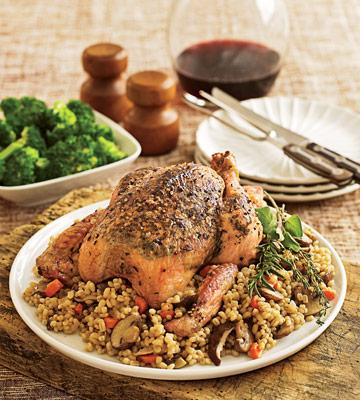 Roast Chicken & Barley Pilaf