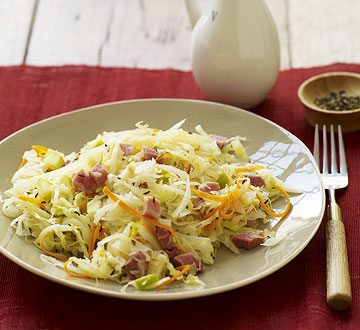 Skillet Cabbage and Ham