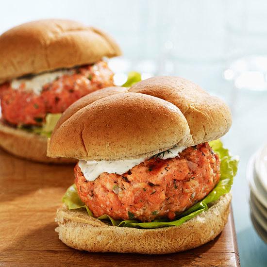 Easy Salmon Burgers