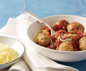 Spaghetti with Chicken Meatballs