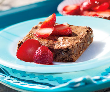 Berry-Topped Brownies