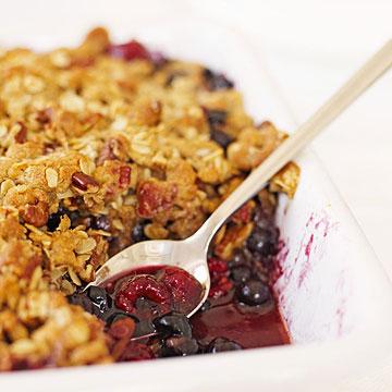 Blueberry-Raspberry Crisp