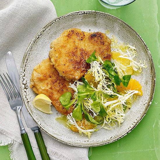 Schnitzel and Salad