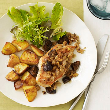 Chicken Cutlets with Fig Compote