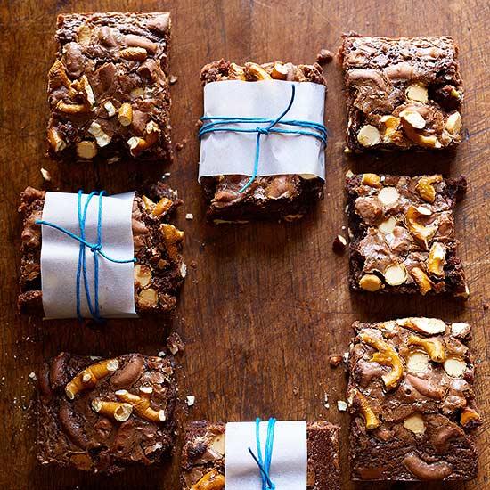 White Chocolate Pretzel Brownies
