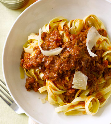 Pasta and Meat Sauce