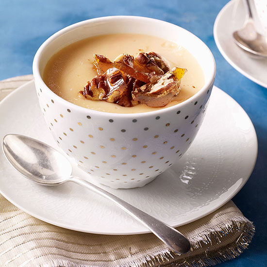 Maple Pudding with Quick Praline