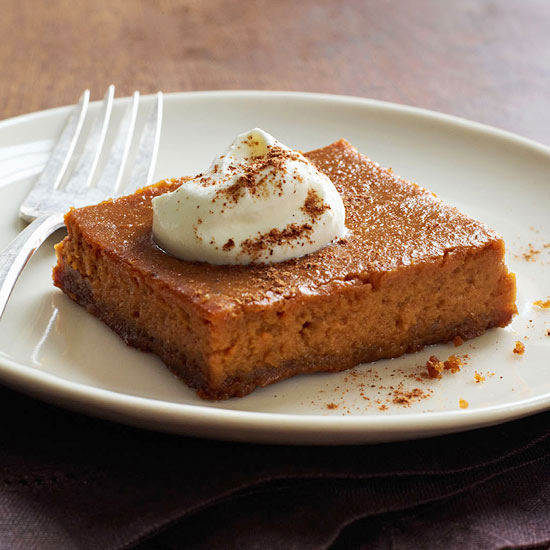 Pumpkin Custard Squares