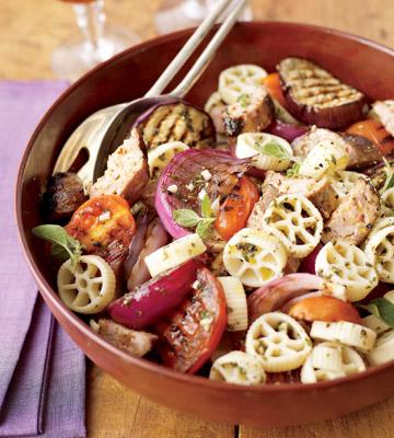 Warm Pasta Salad with Italian Turkey Sausage