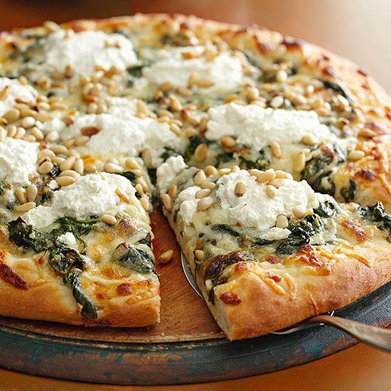 Four Cheese White Pizza