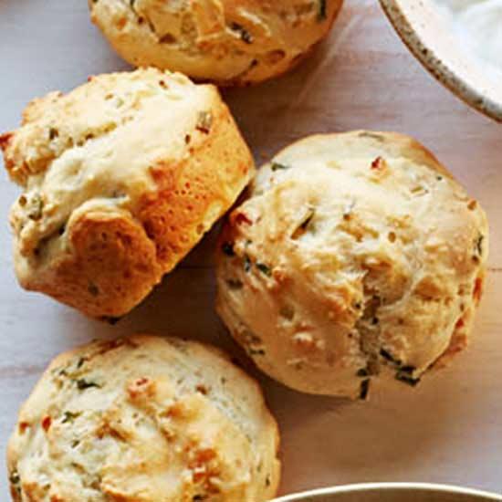 Ricotta Onion Muffins