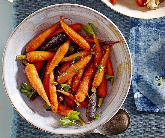Orange-Infused Heirloom Carrots