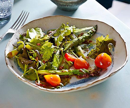 Charred Asparagus and Tomato Salad