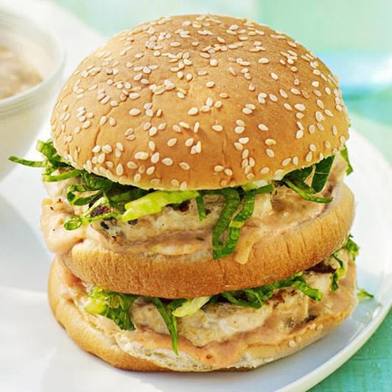 Stacked Chicken Burger