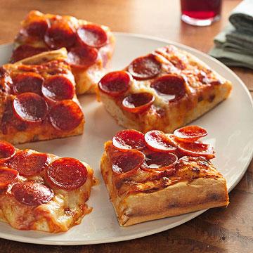 Sicilian-Style Pepperoni Pizza